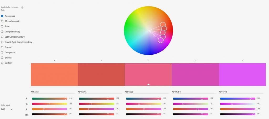 גלגל הצבעים של אדובי